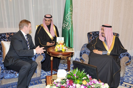 Taoiseach Enda Kenny meets the then Crown Prince and current King Salman of Saudi Arabia