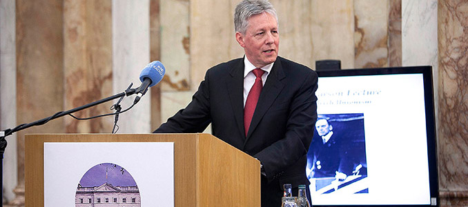 Peter Robinson delivers the Carson lecture - Iveagh House