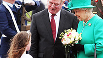 Queen Elizabeth II visit to Ireland May 2011 - arriving at Baldonnel