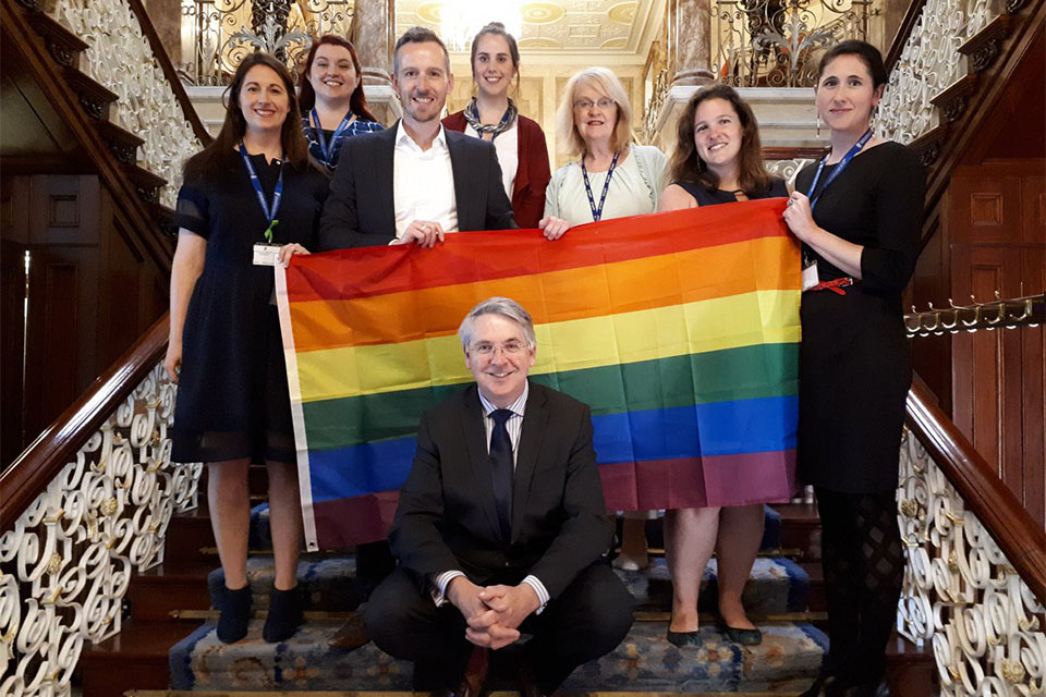 Iveagh House joins Dublin Pride celebrations