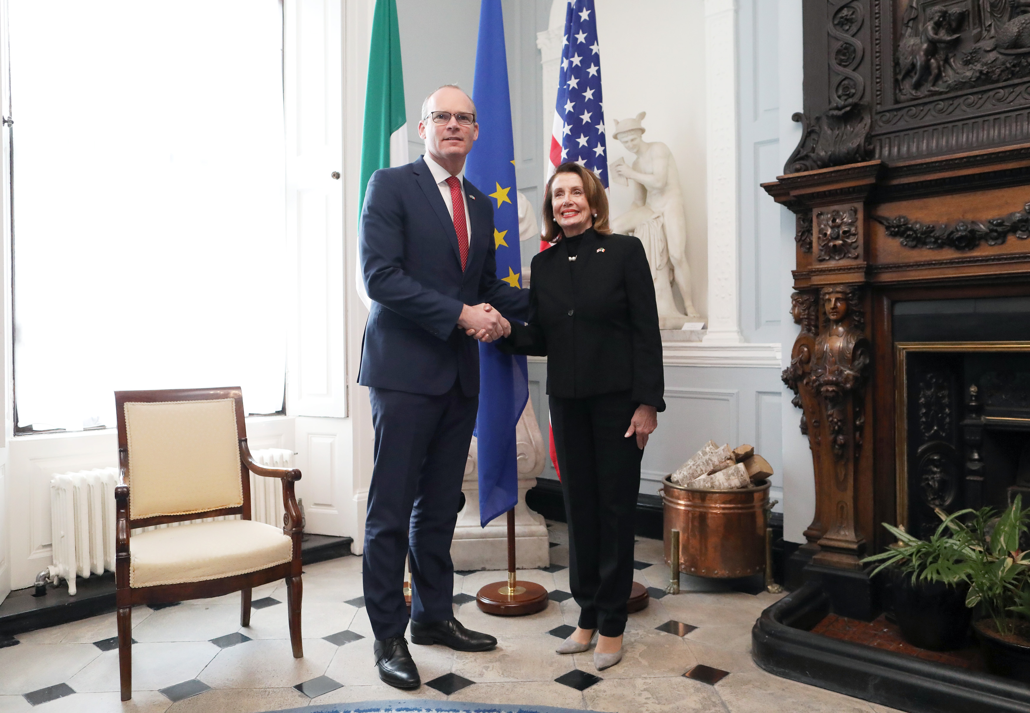 Tánaiste welcomes US Congressional delegation, led by Speaker Nancy Pelosi, to Dublin